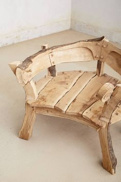 Rounded Woodlands Bench - anthropologie.com
