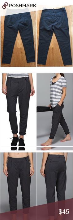 """EUC Stress Leas Pants Trouser Great condition! They have a 26"""" inseam and are a comfy material. Perfect for a casual day at the office or sitting on the couch. lululemon athletica Pants"""