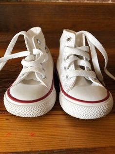 0c2d48f069b399 Converse All Stars Toddler White Leather Sz 4  fashion  clothing  shoes   accessories