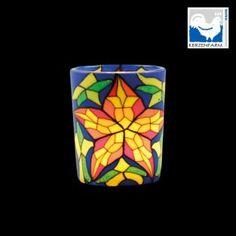 Γυάλινο Χρωματιστό Κηροπήγιο Αστέρι Kerzenfarm 5.8cm Cool Gifts, Cube, Gift Ideas