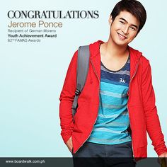 Our warmest congratulations to Jerome Ponce, recipient of the German Moreno Youth Achievement Award at the 62nd FAMAS Awards! @mrjeromeponce www.facebook.com/BoardwalkPH https://twitter.com/BoardwalkPH