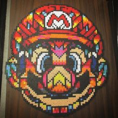 Super Mario perler bead art by perlerking604 - Original design: Van Orton Design