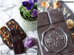 [bakes...] Chocolate with caramelised Walnuts and Lavender {Feinste Schokolade Selber Machen}