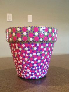 Hand Painted Flower Pot by SheilasGardenGirls on Etsy, $14.00