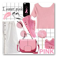 """I wear pink"" by stylemoi-offical ❤ liked on Polyvore featuring Forum, Illesteva, Retrò, Skullcandy, Casetify, NIKE and stylemoi"