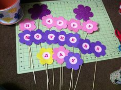 Mother's Day centerpiece in progress :)