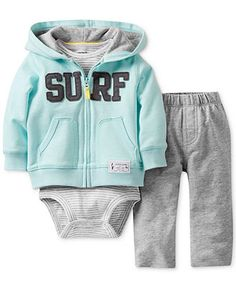 Carter's Baby Set, Baby Boys 3-Piece Cardigan, Bodysuit and Pants - Kids Baby Boy (0-24 months) - Macy's