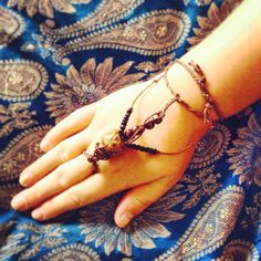 Bohemian Slave Bracelet - Tribal - Gypsy glove - recycled materials <3