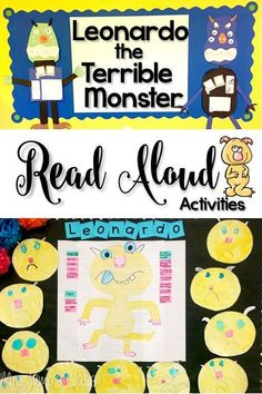 Leonardo the Terrible Monster Read Aloud activities.  Perfect for Kindergarten or first grade students.  Reading comprehension strategies and close reading skills included.  Fun craft and writing activities.