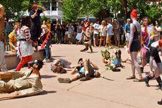 Santa Fe, The Plaza - Flash mob participants