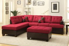 Poundex 3 -Pcs Sectional Set F7601