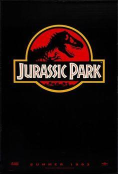 JURASSIC PARK -1993-original rolled 1-Sheet Movie Poster- SPIELBERG- RED ADVANCE