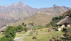 Thendele Camp > Drakensberg North > Drakensberg > KwaZulu Natal, view of amphitheatre and towards Tugela Falls, second highest waterfall in world Beautiful Places To Visit, Places To See, Safari Holidays, Kwazulu Natal, African Safari, Africa Travel, South Africa, Dolores Park, Waterfall