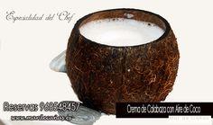 Seguimos presentándote nuestra novedades de nuestro menú como por ejemplo: Crema de Calabaza con Aire de Coco ¿ apetece? reservas 968548457