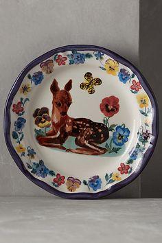 Francophile Dinner Plate $24