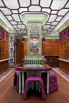Penhaligons Flagship Boutique by Jenner Studio in Regent Street, London. Photographs by Michael Franke - More wonders at www. Visual Merchandising, Boutiques, Restaurant Hotel, Regent Street, Retail Interior Design, Store Interiors, Shops, Branding, Retail Shop