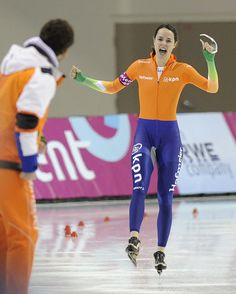 Marrit Leenstra ~ Gold Medal at 2014 Sochi Olympics (Team Pursuit) | #Skating #MarritLeenstra #Netherlands