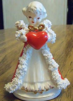 Red & White Angel w/Red Heart  Black Wales Sticker *Bone China* | Collectibles, Decorative Collectibles, Figurines | eBay!