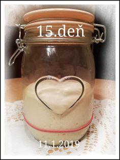 ...svet okolo mňa ...: Príprava kvásku Lievito-Madre Mason Jars, Mugs, Tableware, Dinnerware, Tumblers, Tablewares, Mason Jar, Mug, Dishes