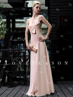 Elegant A-line One Shoulder Floor-length Elastic Silk-like Satin Ready to Wear, up to 55% off, free shipping, buy now! $118.29