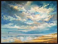Buy Beaschscape with spectacular sky, Oil painting by Wim van de Wege on Artfinder. Discover thousands of other original paintings, prints, sculptures and photography from independent artists.