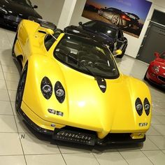Visit The MACHINE Shop Café... ❤ Best of Pagani @ MACHINE ❤ (Irredecent Yellow Pagani Zonda)