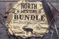 North Western Font + Vectors BUNDLE • Available here → https://creativemarket.com/GraphicMonkee/296545-North-Western-Font-Vectors-BUNDLE?u=pxcr