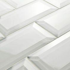 3x6 Beveled Crackled Subway Tile Adex Hampton Bone