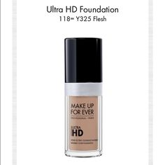 MUFE | ULTRA HD FOUNDATION Shade is 118 = Y325. There is about 90% left. Used a handful of times. In great condition.  All reasonable offers are welcomed. Bundle and save. NO TRADES. Sephora Makeup