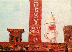 Lucky Strike - Durham Icon www.kbalentine.blogspot.com 5x7