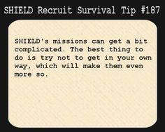 Survival Tips for S.H.I.E.L.D. Recruits