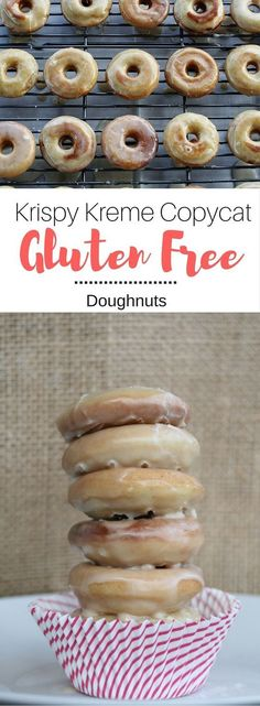Gluten Free Doughnuts (Krispy Kreme Copycat) - You will never know these are gluten-free, I promise. They are soft and sweet with a gooey glaze. | Seasonal Cravings