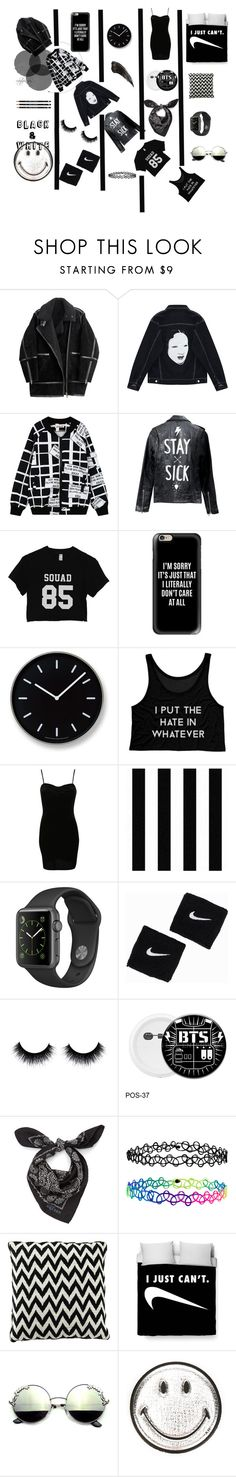 """4.1"" by rubylipa ❤ liked on Polyvore featuring H&M, Chicnova Fashion, Casetify, Lemnos, Pilot, Graham & Brown, NIKE, Alexander McQueen, Accessorize and Anya Hindmarch"