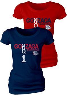 Product: Gonzaga Basketball 'No. Women's T-Shirt Gonzaga Basketball, Gonzaga University, Spokane Washington, Team S, Workout Wear, Shirt Designs, Football, T Shirts For Women, Sports Teams