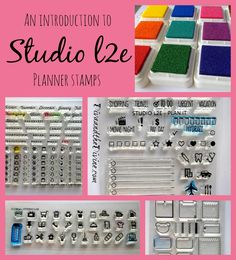 Fun and functional, these planner stamps by studio L2e are a dream for any planner addict.