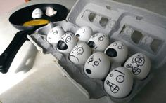 uova, emozioni, paura, umorismo