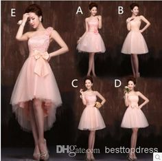 New Arrival Champagne Coral Chiffon Above Bridesmaid Dress | Buy Wholesale On Line Direct from China