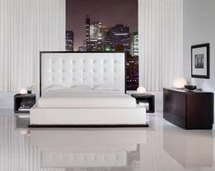 Google Image Result for http://images01.olx.ca/ui/9/30/56/1289494093_137022456_1-Pictures-of--Super-stylish-Italian-Design-bedroom-set-white-leather-headboard-1289494093.jpg