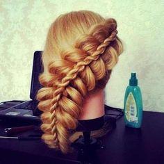 Unusual side braid #hairstyles
