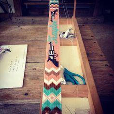Thread Bracelets, Bead Loom Bracelets, Beaded Bracelet Patterns, Bead Loom Designs, Beadwork Designs, Beaded Hat Bands, Beaded Belts, Seed Bead Patterns, Beading Patterns