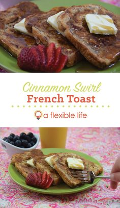 Cinnamon Swirl French Toast Recipe - A Flexible Life Cinnamon French Toast, Breakfast Recipes, Vegetarian, Eat, Cooking, Life, Food, Meal, Kochen
