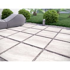 MSI Praia Grey 24 in. x 24 in. / - The Home Depot MSI Praia Grey 24 in. x 24 in. / - The Home Depot Pavers Backyard Patio Designs, Small Backyard Landscaping, Backyard Pavers, Outdoor Pavers, Patio With Pavers, Driveway Pavers, Landscaping Ideas, Paved Backyard Ideas, Arizona Backyard Ideas