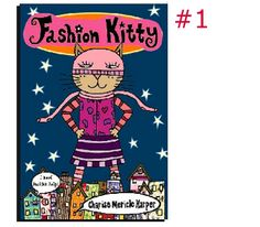 Fashion Kitty series by Charise Mericle Harper Chapter Books, Graphic Novels, Book Series, Kitty, Comics, Reading, Friends, School, Illustration
