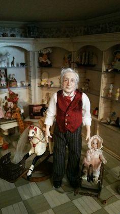 Julie Campbell, IGMA Artisan - ooak hand sculpted gentleman