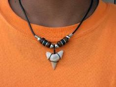 shark tooth necklace - Google Search