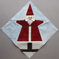 The Santa Claus Block - paper-pieced Santa, inset mustache