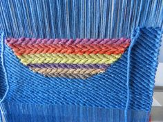 weaving twill using two shedding devices on my Mirrix tapestry loom