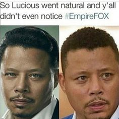 with Lucious is team natural. Funny Facts, Funny Quotes, Funny Memes, Hilarious, Jokes, Empire Quotes, Natural Hair Memes, Empire Fox, You Funny