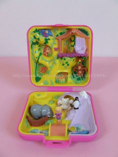 Polly Pocket Pink Jungle...So I pretty much squealed like a girl when I saw a polly pocket come up on the main page then proceeded to search the rest of them and get so excited to see the ones that I had come up. I had a large collection...these were some of my favorite toys when I was in grade school.
