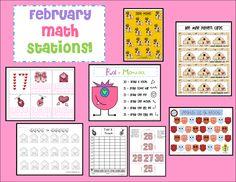 Ketchen's Kindergarten: February Math Stations